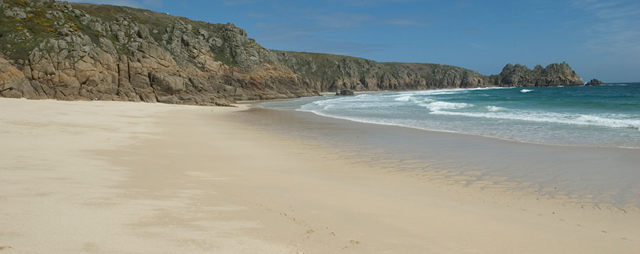 Porthcurno Beach is very close to Tregiffian Farm