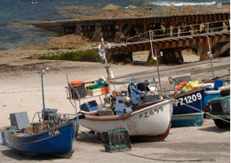 Boats in Sennen Harbour