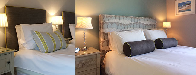 The luxury bed and breakfast rooms at Tregiffian Farm in Cornwall